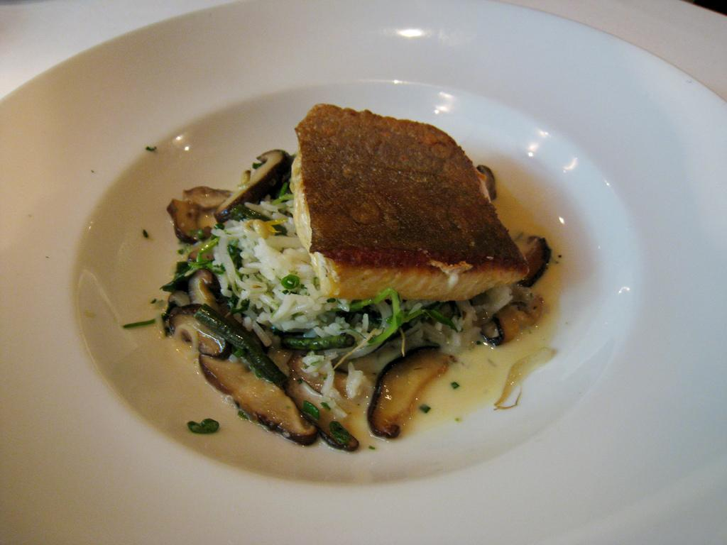 Arctic Char With White Beans, Wild Mushrooms, And Oven-Dried Tomatoes ...