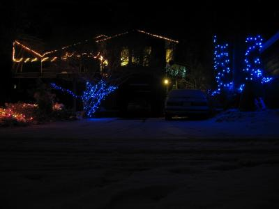 my friend Kurtis' house, complete with lights!